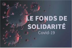 Le fonds de solidarité COVID 19
